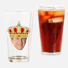 King George III Drinking Glass
