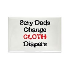 Cloth Diaper Daddy Rectangle Magnet