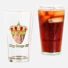 King George III v2 Drinking Glass