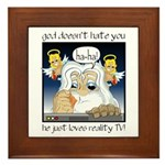 God Hates You Framed Tile