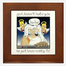 God Hates You Framed Tile