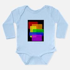 Gay Pride Rainbow Color Blocks Long Sleeve Infant