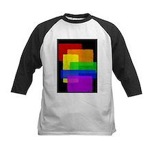 Gay Pride Rainbow Color Blocks Tee