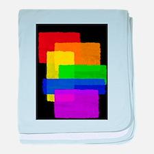 Gay Pride Rainbow Color Blocks baby blanket
