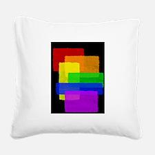 Gay Pride Rainbow Color Blocks Square Canvas Pillo
