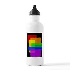 Gay Pride Rainbow Color Blocks Water Bottle