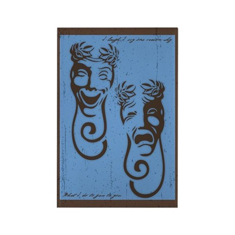Comedy & Tragedy Rectangle Magnet