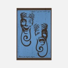 Comedy & Tragedy Rectangle Magnet (10 pack)