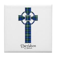 Cross - Davidson of Tulloch Tile Coaster