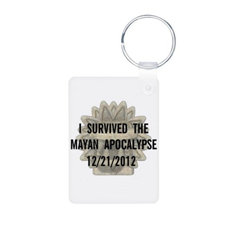 I Survived the Mayan Apocalypse Aluminum Photo Key
