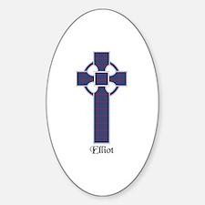 Cross - Elliot Sticker (Oval)