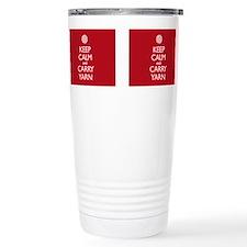 Cool Keep calm carry yarn Travel Mug