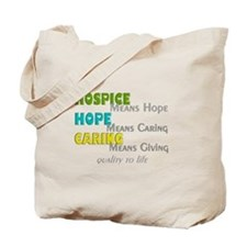 Hospice 2013 hope green blue.PNG Tote Bag