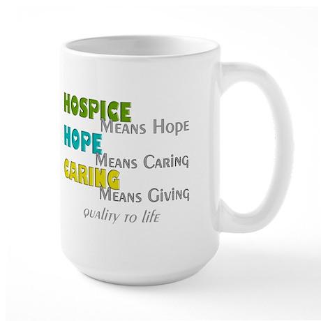 Hospice 2013 hope green blue.PNG Large Mug