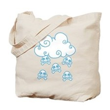 Cute Skull Raincloud Tote Bag