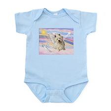 Westie Angel in Clouds Infant Bodysuit