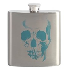 Blue Skull Face Flask