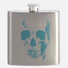 Blue Skull Face Flask