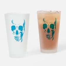 Blue Skull Face Drinking Glass