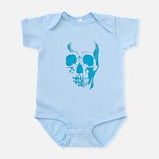 Blue Skull Face Infant Bodysuit