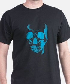 Blue Skull Face T-Shirt