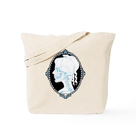 Pretty Skull Cameo Tote Bag