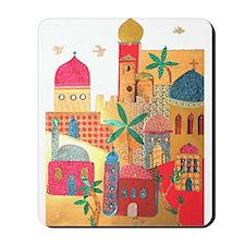Jerusalem City Colorful Art Mousepad