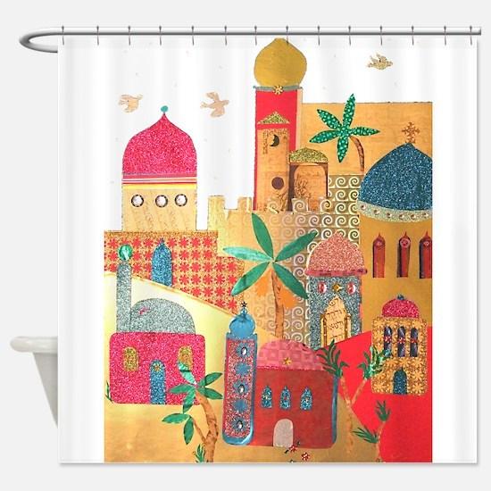 Jerusalem City Colorful Art Shower Curtain