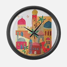Jerusalem City Colorful Art Large Wall Clock