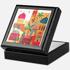 Jerusalem City Colorful Art Keepsake Box