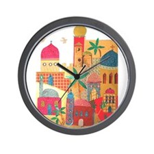 Jerusalem City Colorful Art Wall Clock