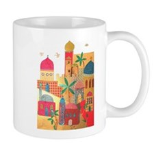 Jerusalem City Colorful Art Mug