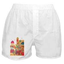 Jerusalem City Colorful Art Boxer Shorts