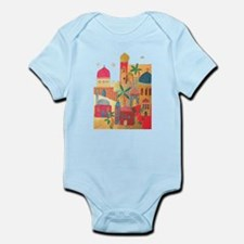 Jerusalem City Colorful Art Infant Bodysuit