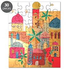 Jerusalem City Colorful Art Puzzle