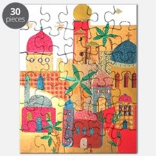 Jerusalem City Colorful Art Puzzle