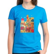 Jerusalem City Colorful Art Tee