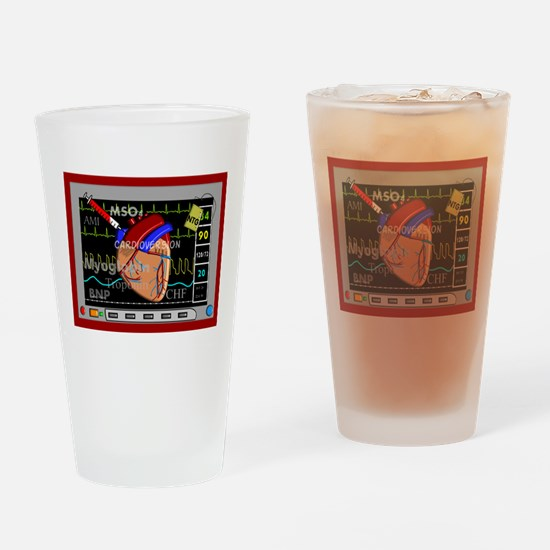 cardiac pillow CP red.PNG Drinking Glass
