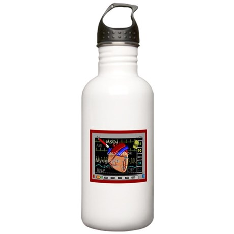 cardiac pillow CP red.PNG Stainless Water Bottle 1