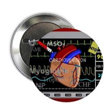 """cardiac pillow CP red.PNG 2.25"""" Button"""