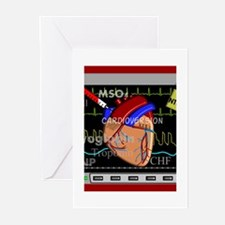 cardiac pillow CP red.PNG Greeting Cards (Pk of 10