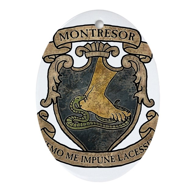Monterors U Monterors: Montresor Coat Of Arms Ornament (Oval) By Opheliasart002