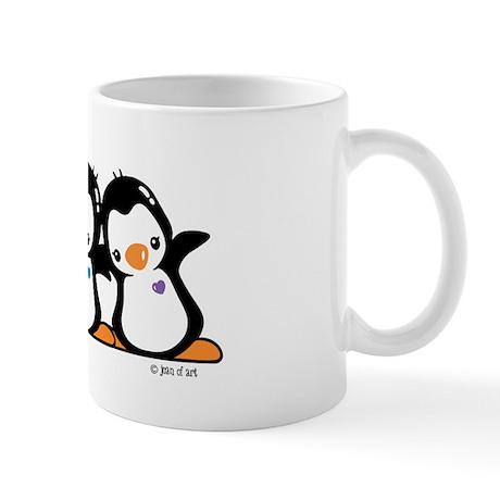 Three Penguins Mug