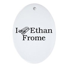 I (Sled) Ethan Frome Ornament (Oval)