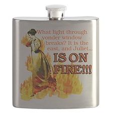Juliet On Fire Flask