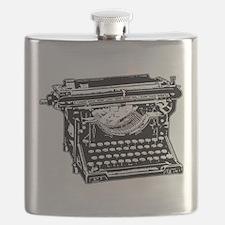Old Fashioned Typewriter Flask