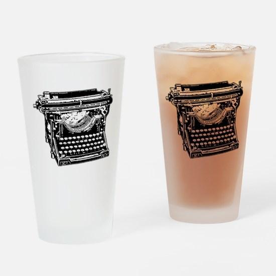 Old Fashioned Typewriter Drinking Glass