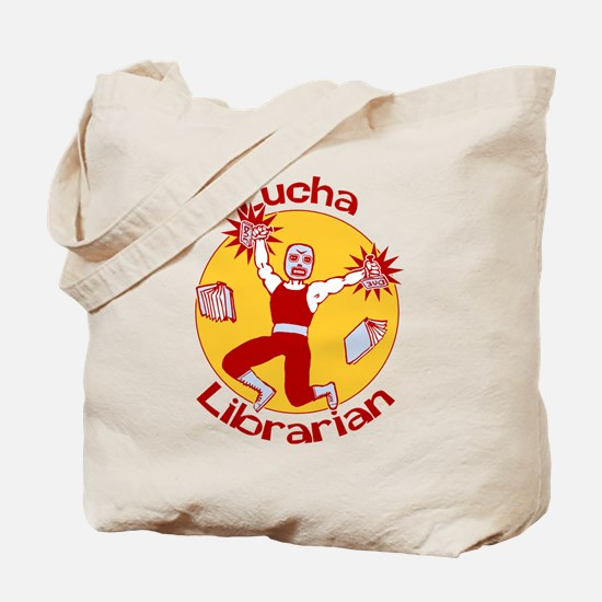 Lucha Librarian Tote Bag