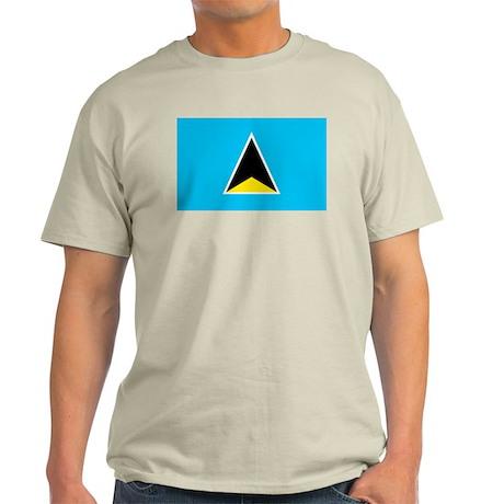 St. Lucia Ash Grey T-Shirt