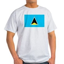 St. Lucia Ash Grey T-Shirt